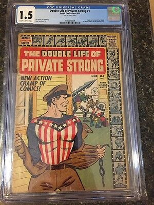 Double Life Of Private Strong #1 Cgc 1.5,1St The Fly, Origin The Shield, 1959