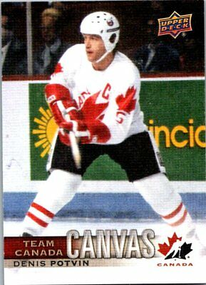 2017-18 UD CANADIAN TIRE TEAM CANADA CANVAS DENNIS POTVIN Insert Card # TCC-39