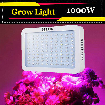 1000W LED Grow Light Panel Full Specturm Greenhouse Hydroponics Plant Growing AU