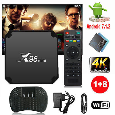 X96 mini Smart TV Box 1G 8G Quad-core 4K S905W Android 7.1 avec clavier S3A7F