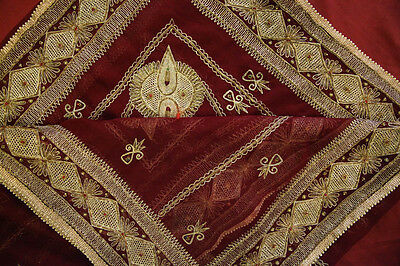 Vintage Heavy Dupatta Antique Women Bridal Long Scarf Embroidered Stole HD1018