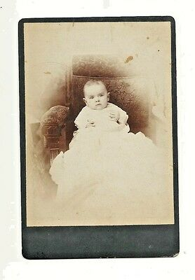 Antique Photo - Young Toddler In Christening Type Gown