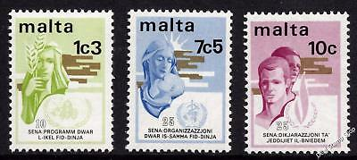 Malta 1973 Anniversaries Complete Set SG 504 - 506 Unmounted Mint