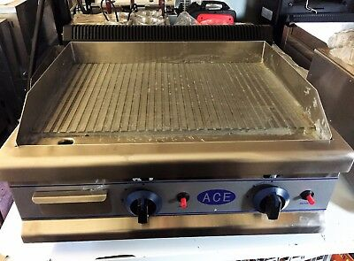Ace Gas Griddle Fully Ribbed EN343