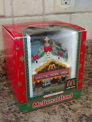 McDonaldland THEATER Christmas Village lighted 1997 McDonald's Restaurant EUC