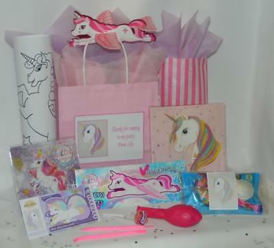 Unicorn Pre Filled Party Bag Personalised Pink