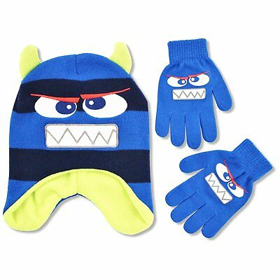ABG Accessories Little Boys Monster Critter Hat and Glove Cold Weather Set, Age
