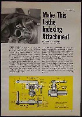 Metal Lathe INDEXING ATTACHMENT How-To build PLANS