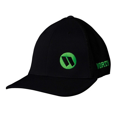 Worth Trucker Mesh Hat (Black/Green) WTRUCK-BLK LARGE/XL