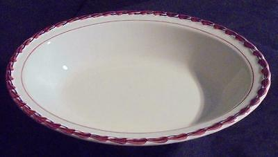 Lot of 2 Vintage 1940s Vernon Kilns Monterey Oval Serving Dish Hand Painted