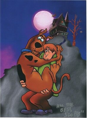 Scooby Doo & Shaggy Signed Autograph Tribute Print 8.5x11 With COA PJ1