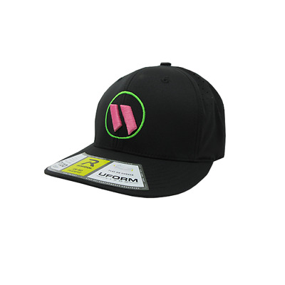 Worth Hat by Richardson (PTS30) All Black/Neon Green/Pink SM/MD
