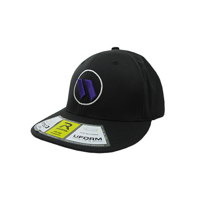 Worth Hat by Richardson (PTS30) All Black/White/Purple XS/SM