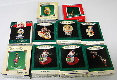 Group of 10 Assorted Hallmark miniature ornaments
