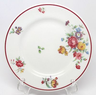 Vintage Shenango - Pasadena with Red Trim Bread & Butter Plate Restaurant As Is