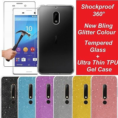 Tempered Glass Screen Protector Clear Gel Case Cover for Nokia 2 3 5 6 7 Plus 8