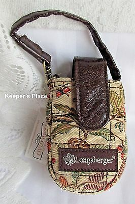 Longaberger AUTUMN PATH Cell Phone Contact Lens Lipstick Case Faux Leather New