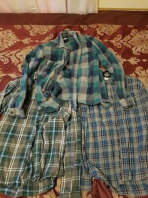 Lot of 3 Small size Sonoma Flannels