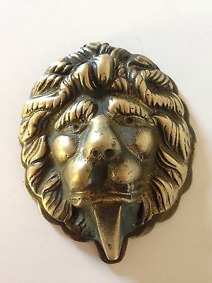 Collectable Architectural Antique Lions Head Solid Brass Door Knocker