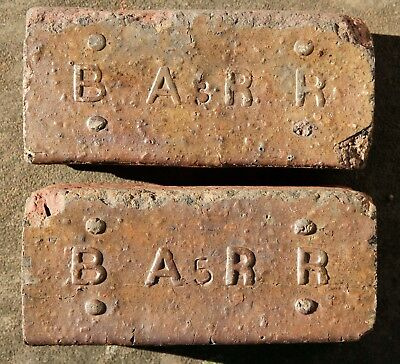 Antique Brick Pavers - Barr Clay Co. Streator Illinois IL With Rare Numbers 3,5