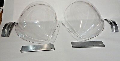 New Sebring Style Headlamp Covers Perspex Cowls W Fitting Kit for MGB 1963-80