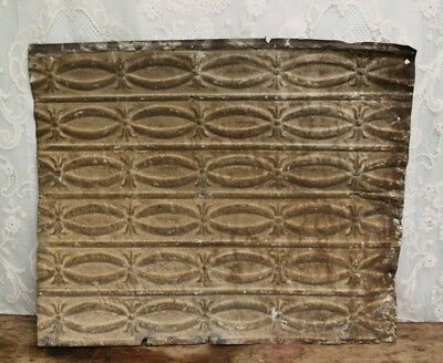 "Antique Salvaged Shabby Chic Tin Ceiling Tile -  Measures 25"" X  29 1/2"""