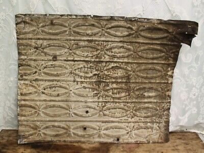 "Antique Salvaged Shabby Chic Tin Ceiling Tile -  Measures 30"" X  24 1/2"""