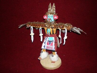 """Navajo """"Older Eagle Dancer"""" Kachinas Doll Signed by DMcL c. 1960 11"""" Tall"""
