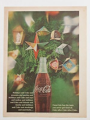 1967 Coca-Cola Christmas Full One Page Print Advertisement