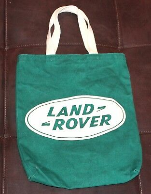 "RARE LAND ROVER TOTE BAG ~ 12"" x 14"" EXCELLENT ~ Range LUXURY collectors green"