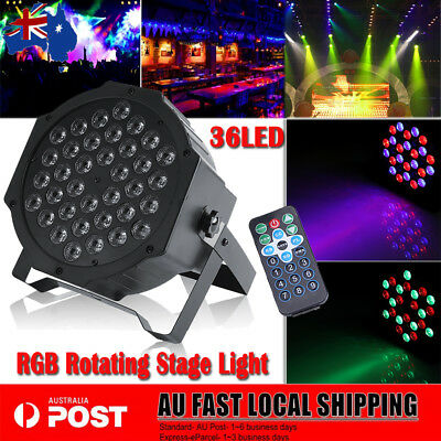 72W 36LED LED RGB DMX-512 Disco Party Stage Strobe Effect Light Lamp W/ Remote