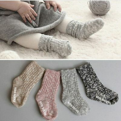 0-4years Cotton Floor Knee High Newborn Baby Socks Anti Slip Winter Warm