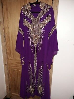 Bridal Kaftan Arabic Takchita Moroccan party occassions outfit dress. size 12