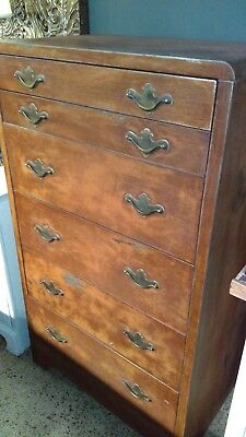 Vintage Art Deco Industrial Chest 9 Drawers Dresser Metal Stainless