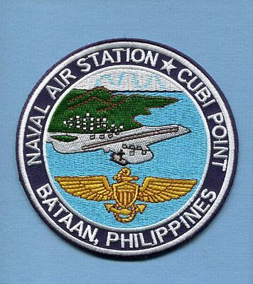 NAS CUBI POINT PHILIPPINES NAVAL AIR STATION US NAVY Base Squadron Jacket Patch