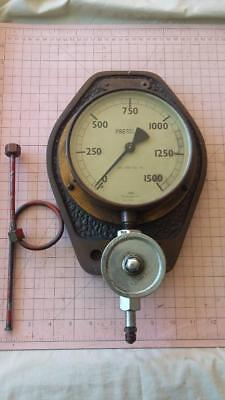 Vintage Pressure Gauge.workshop,motor,engine,garage,tools,spanners,oil,old,rare.