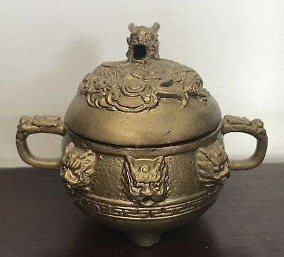 Dragon Bowl In Brass
