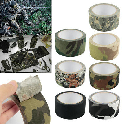 10M Camouflage Waterproof Wrap Rifle Gun Hunting Camo Stealth Duct Tape 5CM Wide