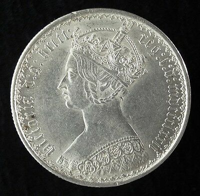 GB Great Britain Gothic Florin Silver Coin Type B3 Unused Cond FS 1872 #0023