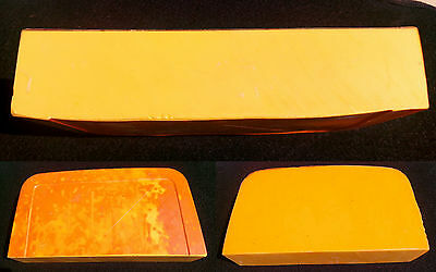 VINTAGE MARBLED YELLOW COLOR AMBER BAKELITE CATALIN RODS DICE BLOCK 1705 grams