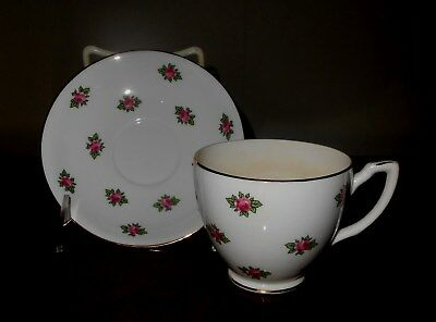 Vintage 1930's English Bone China Cup & Saucer
