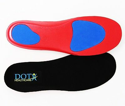 Orthotic Insoles Arch Support Plantar Fasciitis Flat Feet Back Heel & Joint Pain