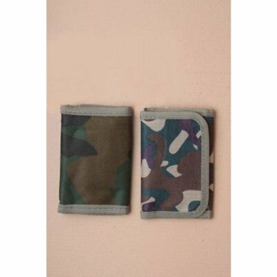 KIDS  UK SUPPLIER, **NEW** BOYS ARMY STYLE WALLET GREEN BROWN CAMOUFLAGE