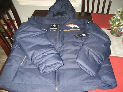 new product 55f70 24817 MENS NIKE NFL ON FIELD DENVER BRONCOS SIDELINE Parka WINTER JACKET L LARGE  NWT