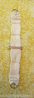 Unicorn Woman's Leather Stay Woven Western Girth Off-white 1/9 Scale Breyer