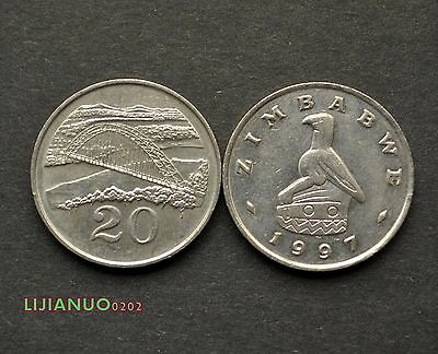 Simbabwe Zimbabwe 20 Cents ND(1980-1997) VF COIN Münzen >Birchenough Bridge