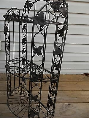 3 tier iron metal folding plant spice towel cup stand holder storage