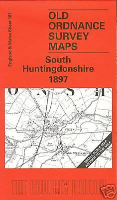 Old Ordnance Survey Map South Huntingdonshire 1897