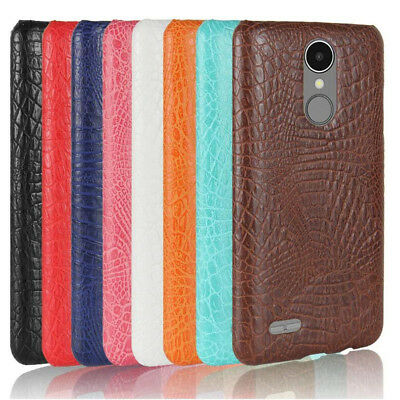 For LG K8 2017 LV3 Alligator PU Coated hard case back cover