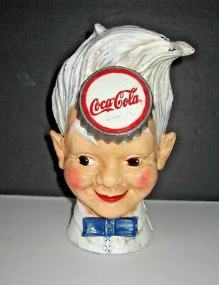 "Vintage Coca-Cola ""SPRITE BOY"" Cast Iron Bank"